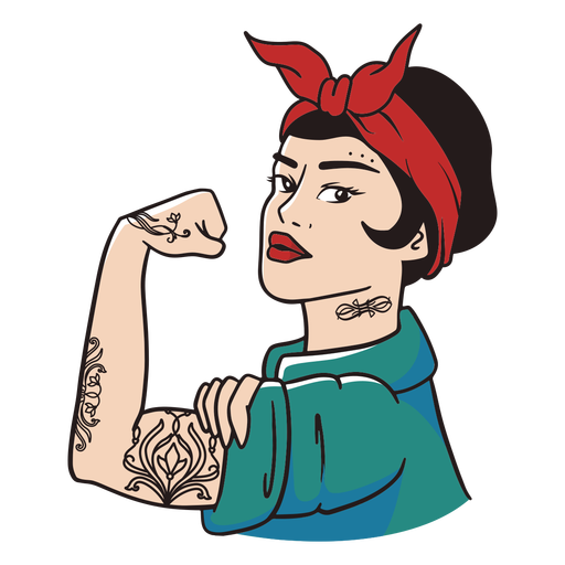 Strong woman character illustration
