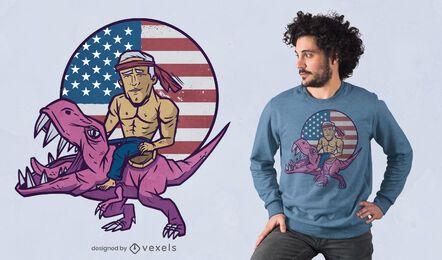 Diseño de camiseta biden t-rex