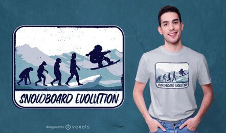 Snowboard evolution t-shirt design
