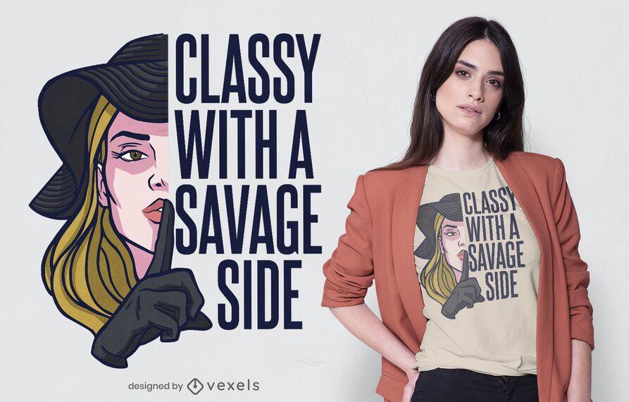 Elegante diseño salvaje en camiseta