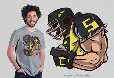 Diseño de camiseta de perfil de fútbol americano.
