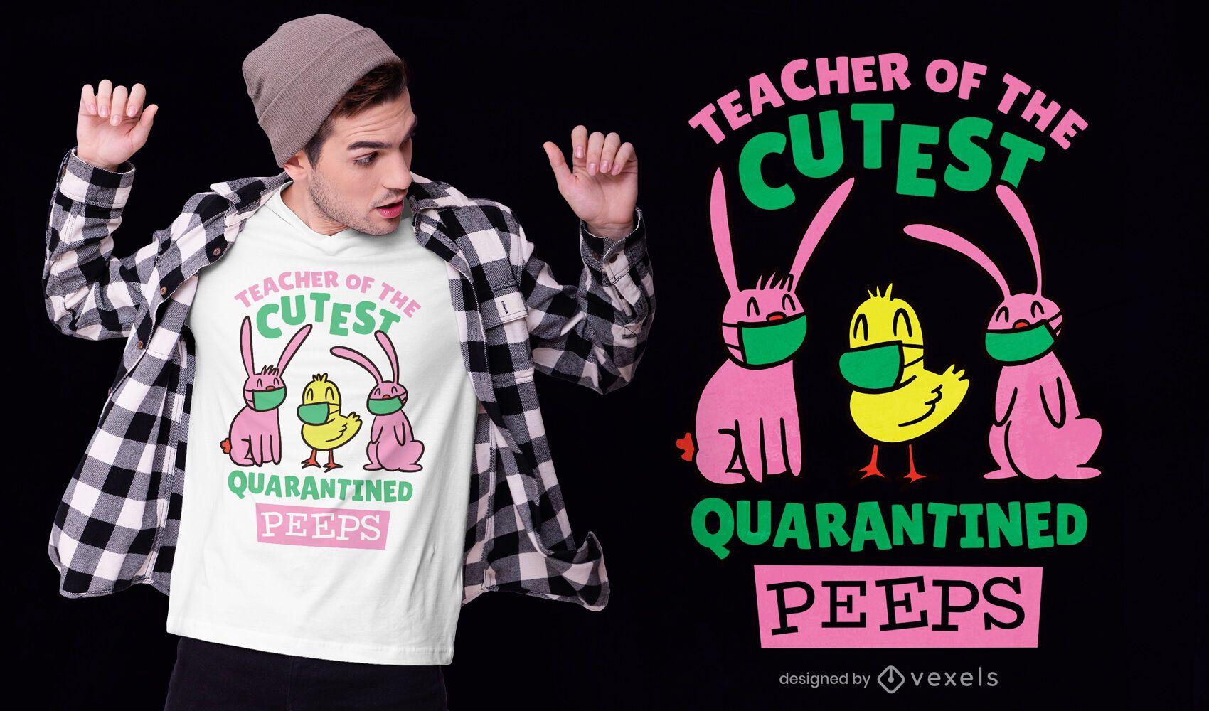 T-Shirt-Design der unter Quarantäne gestellten Tiere