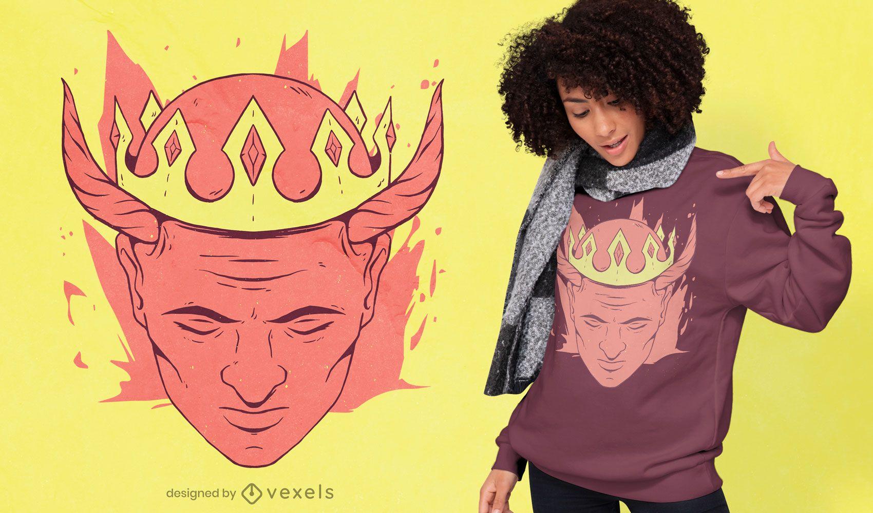 Diseño de camiseta King Head