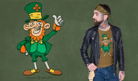 Irish leprechaun t-shirt design