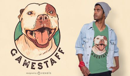 Design de camiseta para cachorro Staffordshire