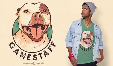 Diseño de camiseta de perro Staffordshire