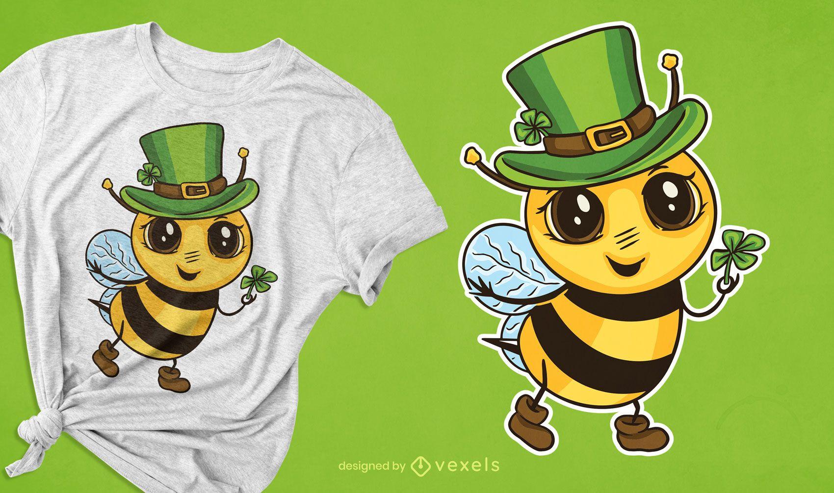 Cute Irish bee t-shirt design