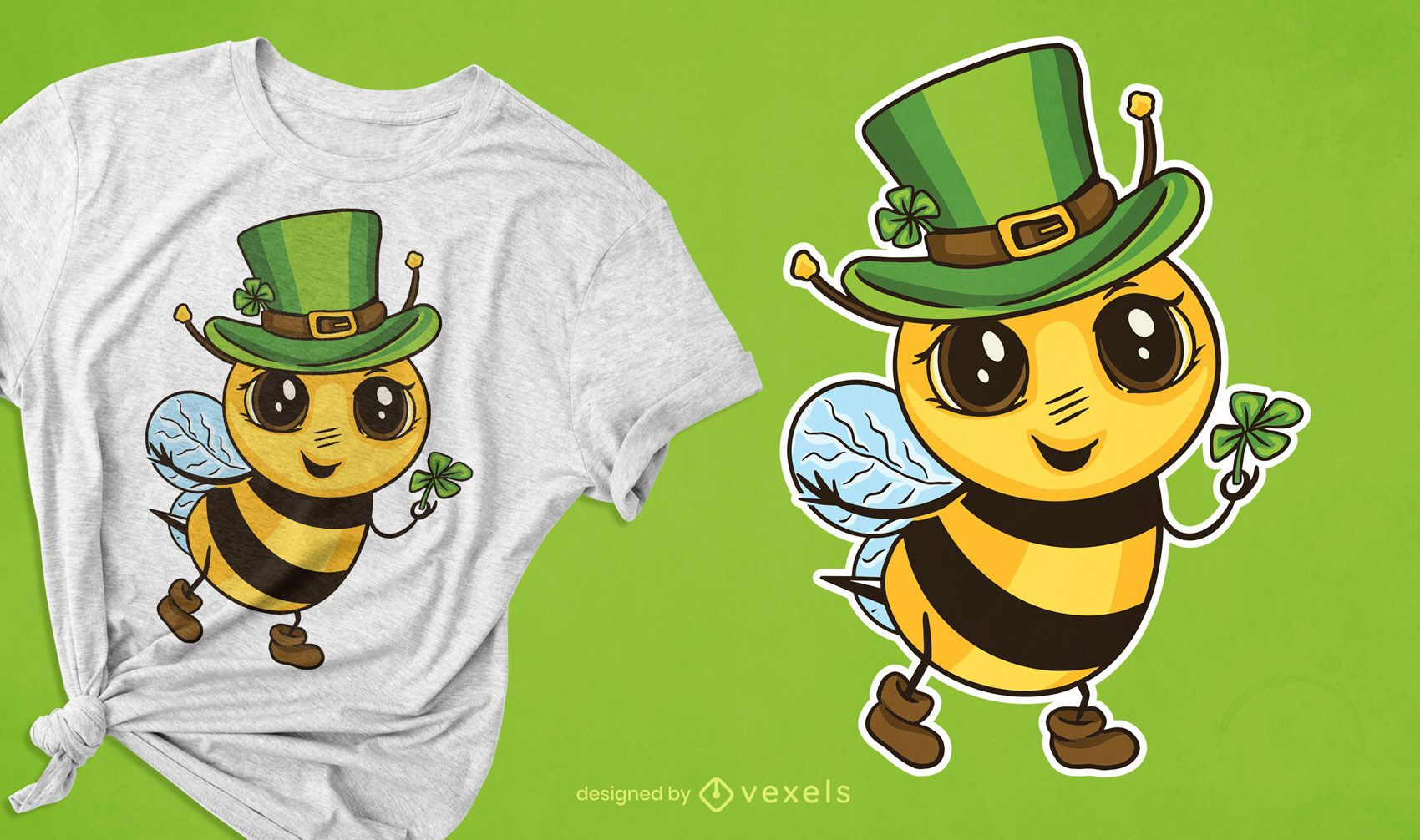 Lindo diseño de camiseta de abeja irlandesa