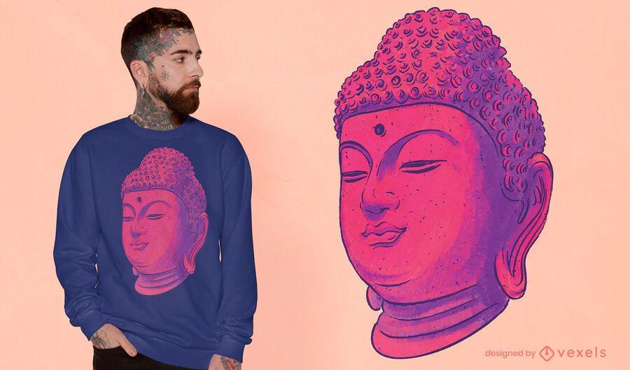 Diseño de camiseta de Buda colorido