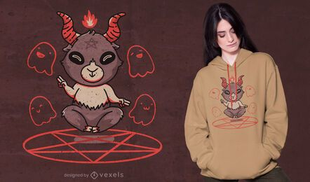 Cute Baphomet t-shirt design