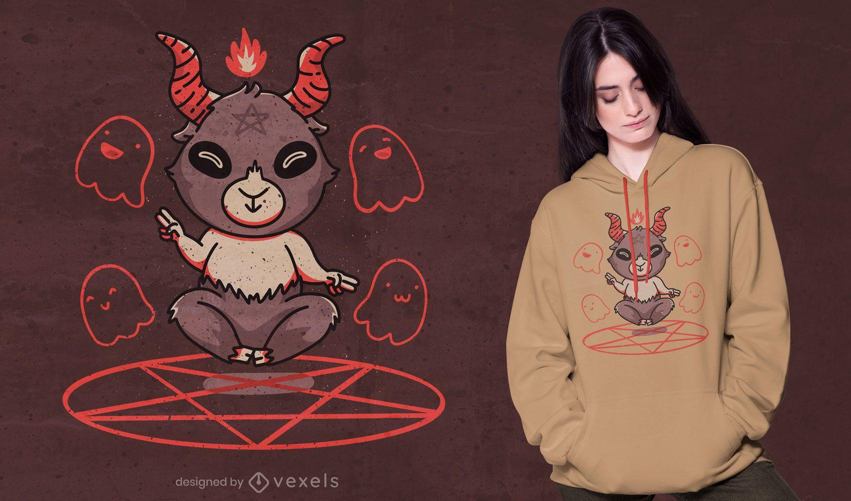 Design fofo da camiseta Baphomet
