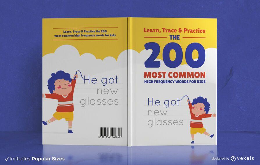 200 common words book cover design
