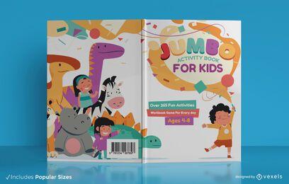Design de capa de livro de atividades jumbo