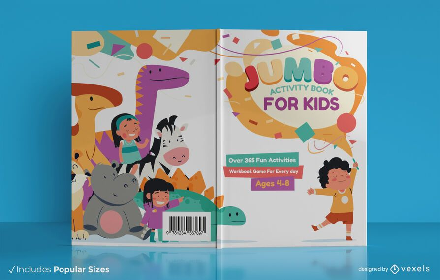 Jumbo activity book cover design