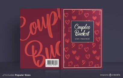 Diseño de portada de libro de cubo para parejas