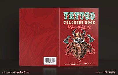 Desenho da capa do livro para colorir tatuagem