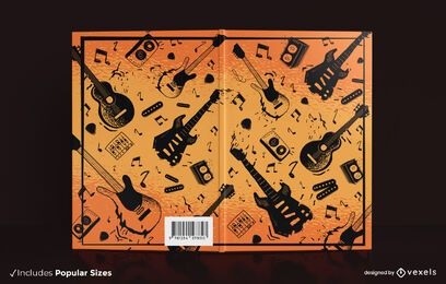Design de capa de livro de guitarra elétrica