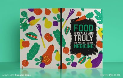Food diary book cover design