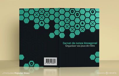Hexagonal notebook cover design