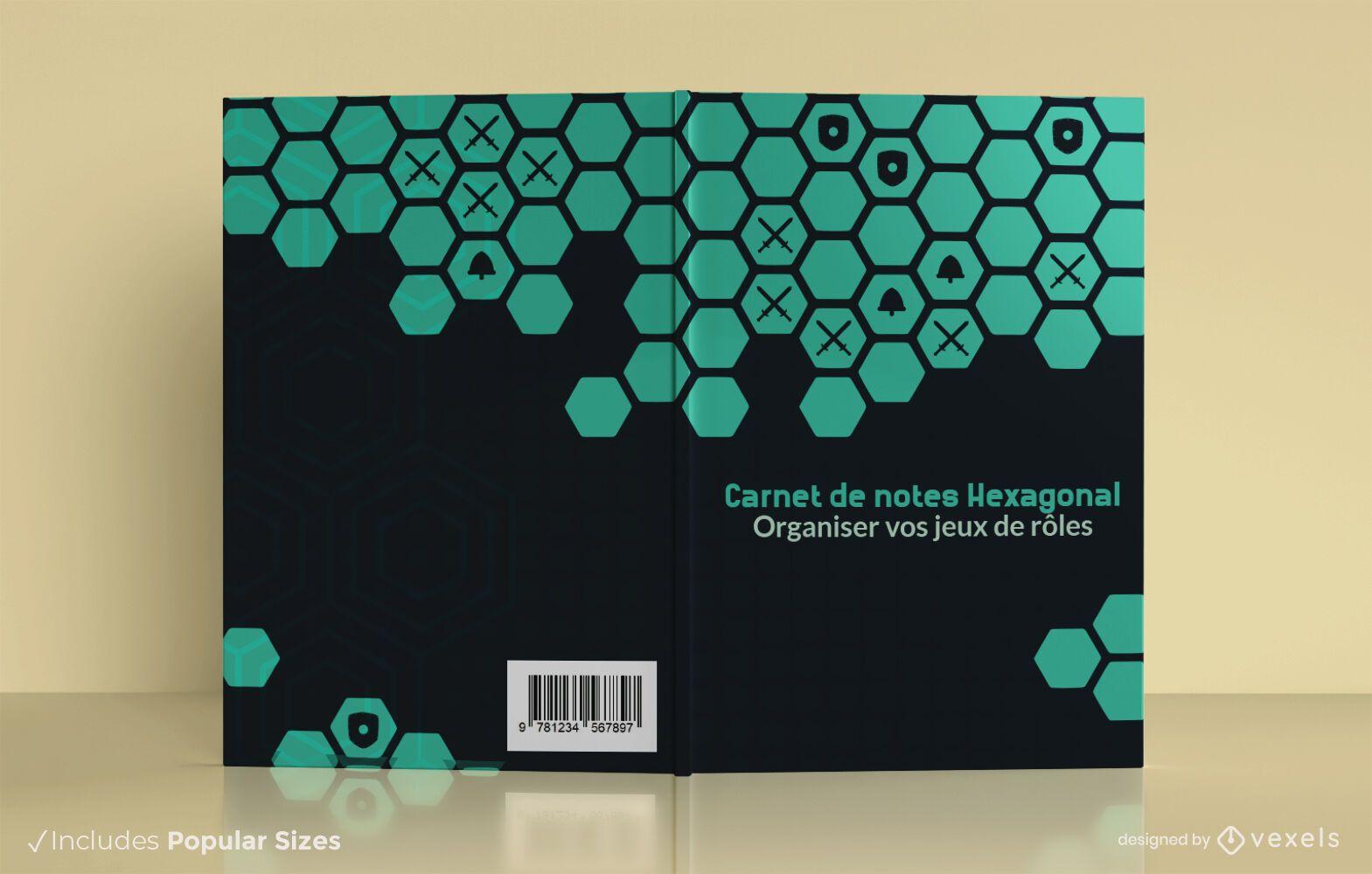 Hexagonal notebook cover design