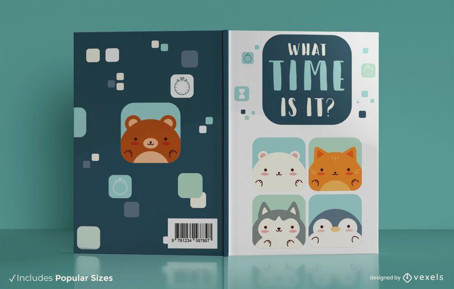 Diseño de portada de libro de decir el tiempo