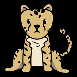 Sitting cheetah illustration
