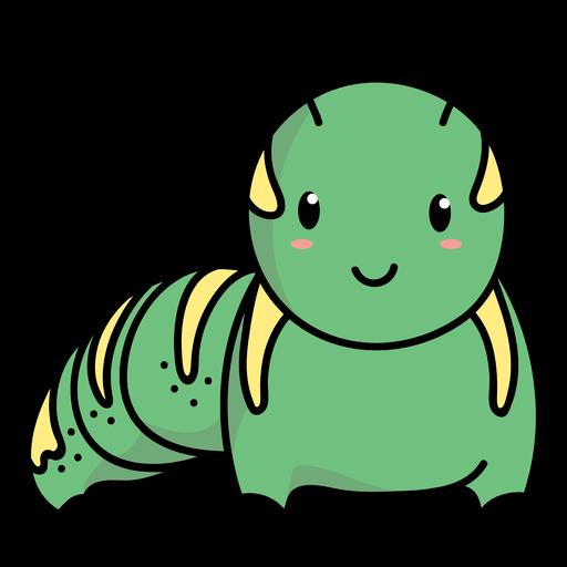 Cute caterpillar standing illustration