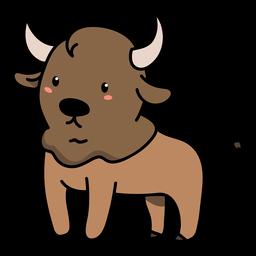 Cute bull standing illustration