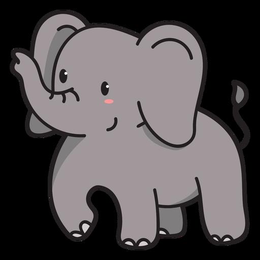 Ilustración de lindo elefante de pie