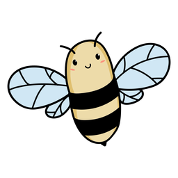 Cute bee flying illustration