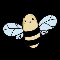 Linda abeja volando ilustración