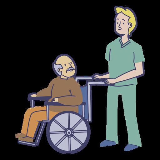 Piso de trabajador de hogar de ancianos