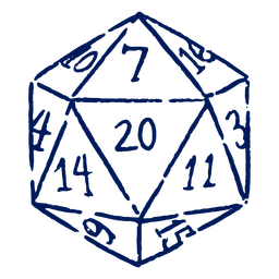 D20 RPG dice stroke