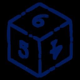 D6 RPG dice stroke