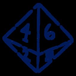 D8 RPG dice stroke