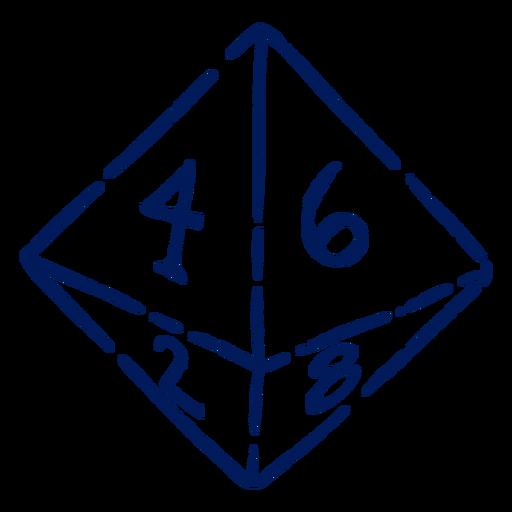 Golpe de dados D8 RPG