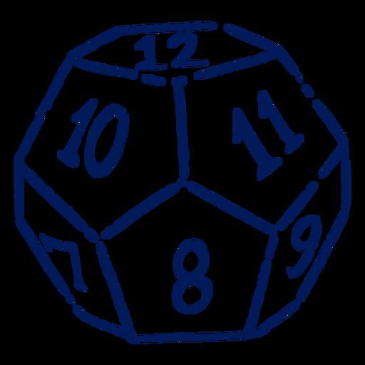 Golpe de dados D12 RPG