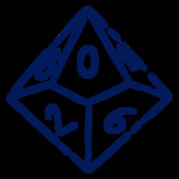RPG game dice stroke