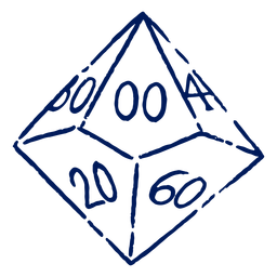 D10 RPG dice stroke