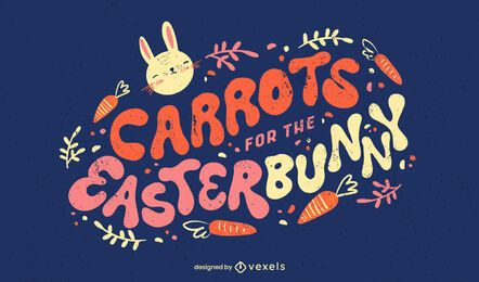 Letras de cenouras para o coelhinho da Páscoa
