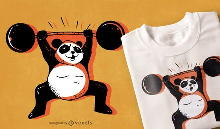 Strong panda t-shirt design
