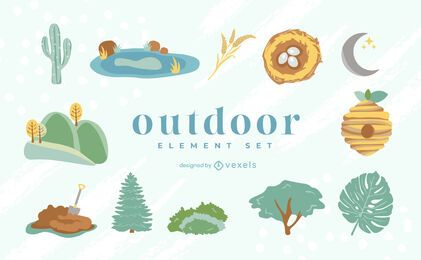 Outdoors flat element set