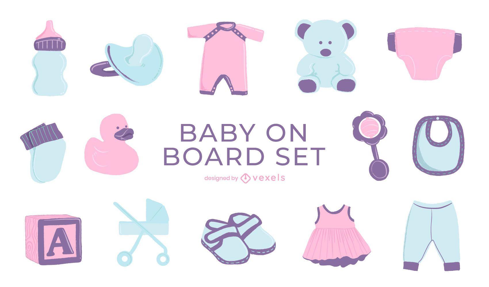 Conjunto bebé semiplano