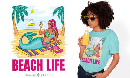 Mermaid lifestyle t-shirt design