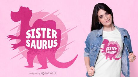 Sister saurus t-shirt design