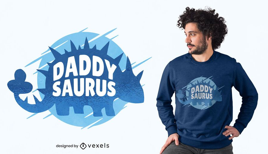 Diseño de camiseta Daddy Saurus
