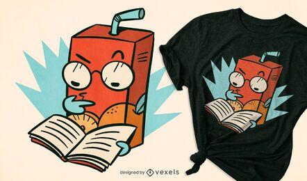 Design de camiseta com suco concentrado