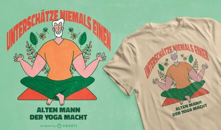 Old man yoga t-shirt design