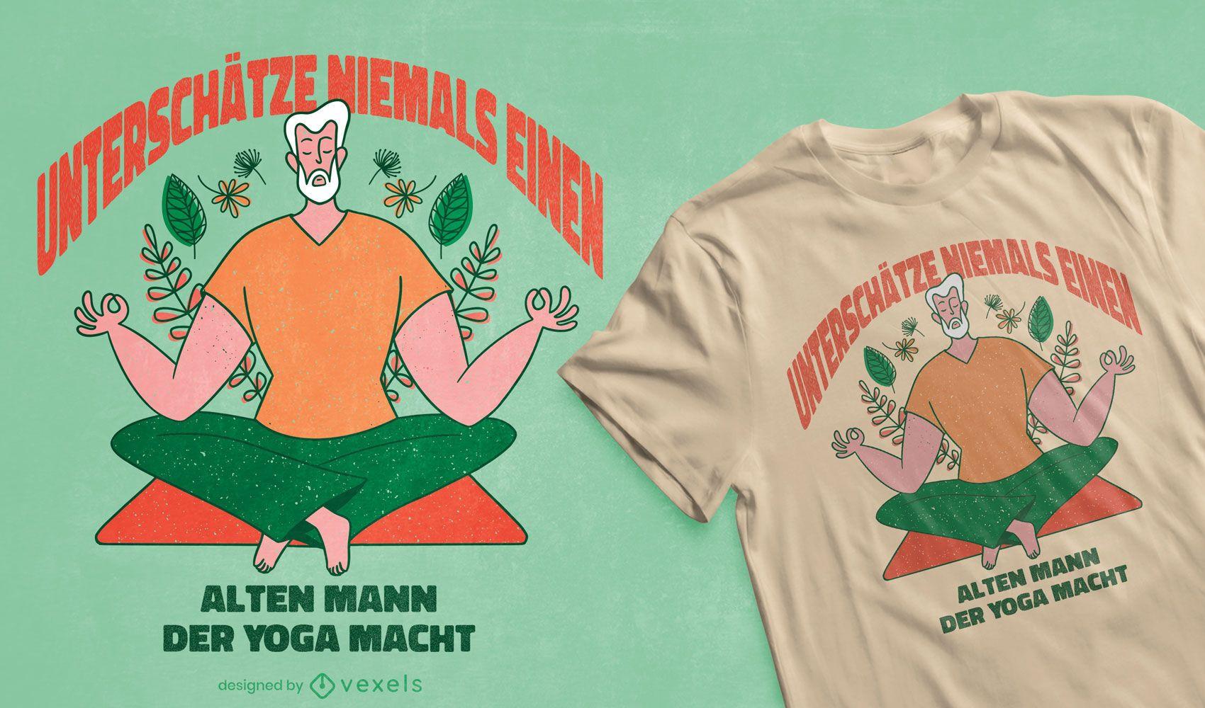 Old man yoga t-shirt design