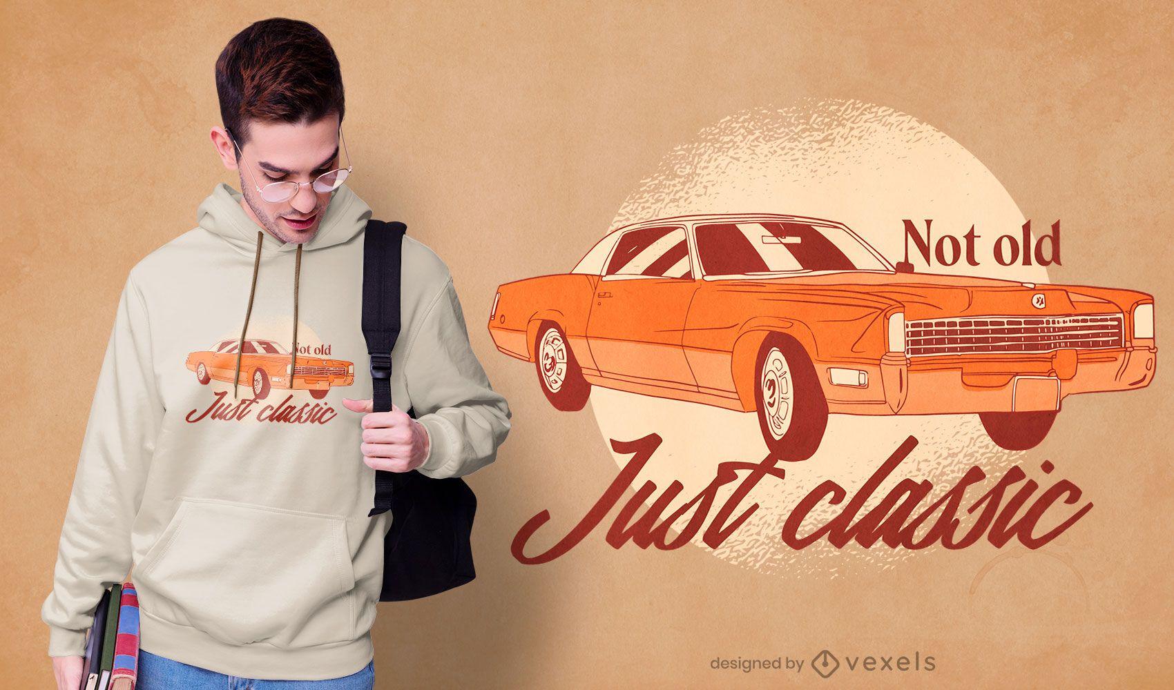 Solo diseño de camiseta de coche clásico.